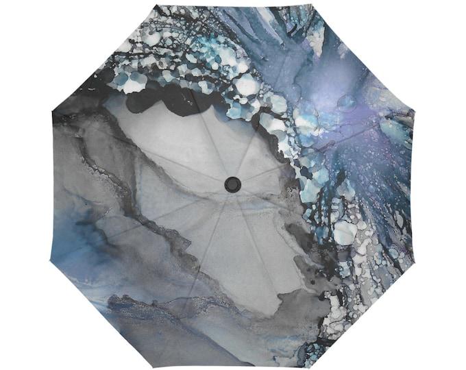 Automatic Open/Close Umbrella, Gift, Gray, Purple, Black