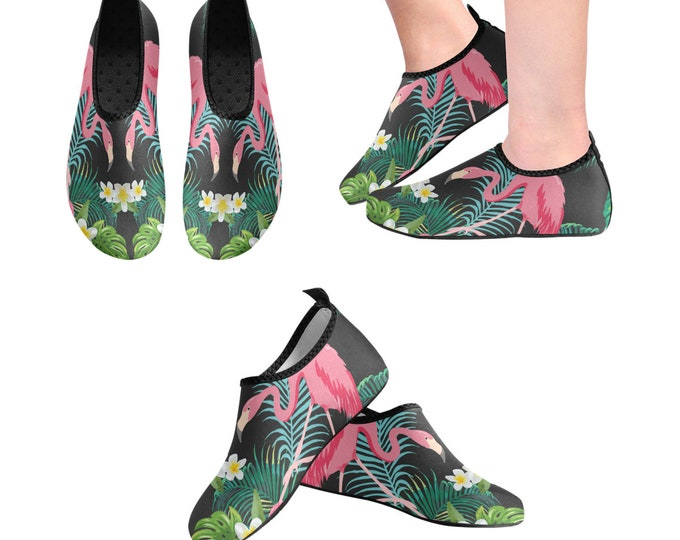 Yoga Shoes, Barefoot Shoes, Women's Shoes, Kids Shoes, Flat Shoes, Slip-ons, Casual Shoes, Flamingo, Artsy Shoes