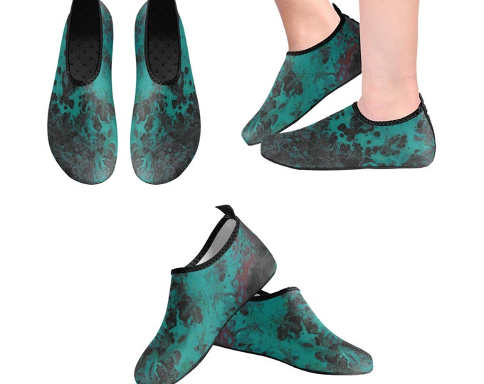 Yoga Shoes, Barefoot Shoes, Women's Shoes, Kids Shoes, Flat Shoes, Slip-ons, Casual Shoes, Green, Black, Artsy Shoes