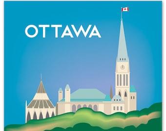 Ottawa Print, Ottawa Skyline, Ottawa Art, Canada Print, Ottawa Giclee Print, Ottawa Art, Ottawa Decor, Ottawa vertical art, style - E8-O-OTT