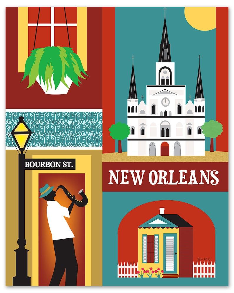 da149b6f0 New Orleans Print New Orleans LA Art New Orleans Map NOLA   Etsy