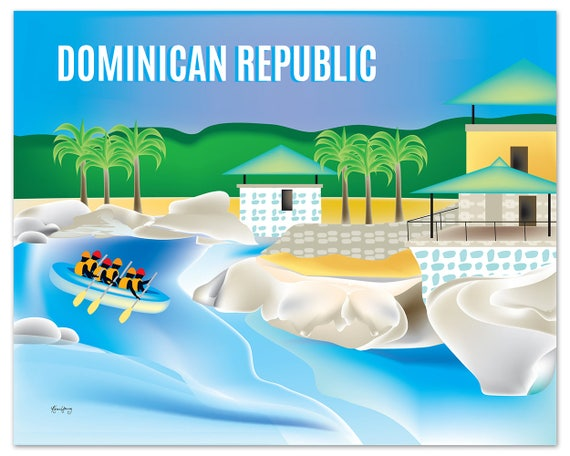 Dominican Republic art print Dominican Republic map | Etsy