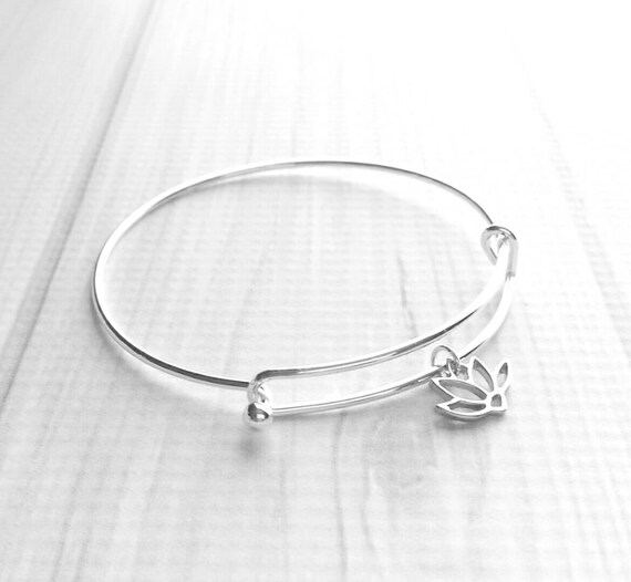Holy Spirit Charm On A 7 1//2 Inch Round Double Loop Bangle Bracelet