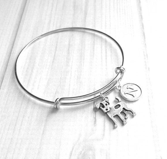 Jack Russell Bracelet Dog Charm Bracelets Stainless Steel Adjustable Bangle
