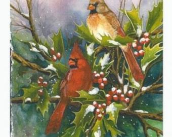 Winter Cardinal Print