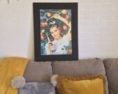 PEPSI, Co. Vintage Poster Gal - 1994 Reproduction - (Black Matte removable) - Ships Flat - Ready to Frame - 985