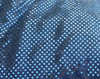 Black Sequin Fabric - Lightweight Craft Fabric - Great for Holiday Projects