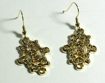 4855c10bbc6 Gold Celtic Scroll Dangle Earrings