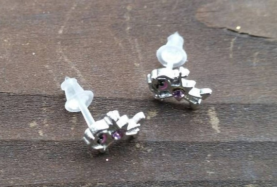 Gift Boxed Girls Ladies 925 Sterling Silver Studs Panda-Red Bow Earrings