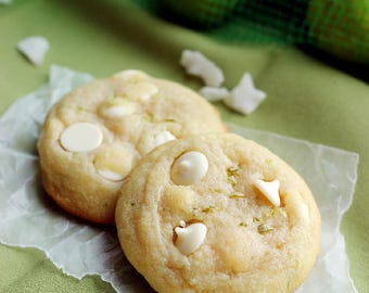 Tropical White Chocolate Coconut Key Lime Cookies