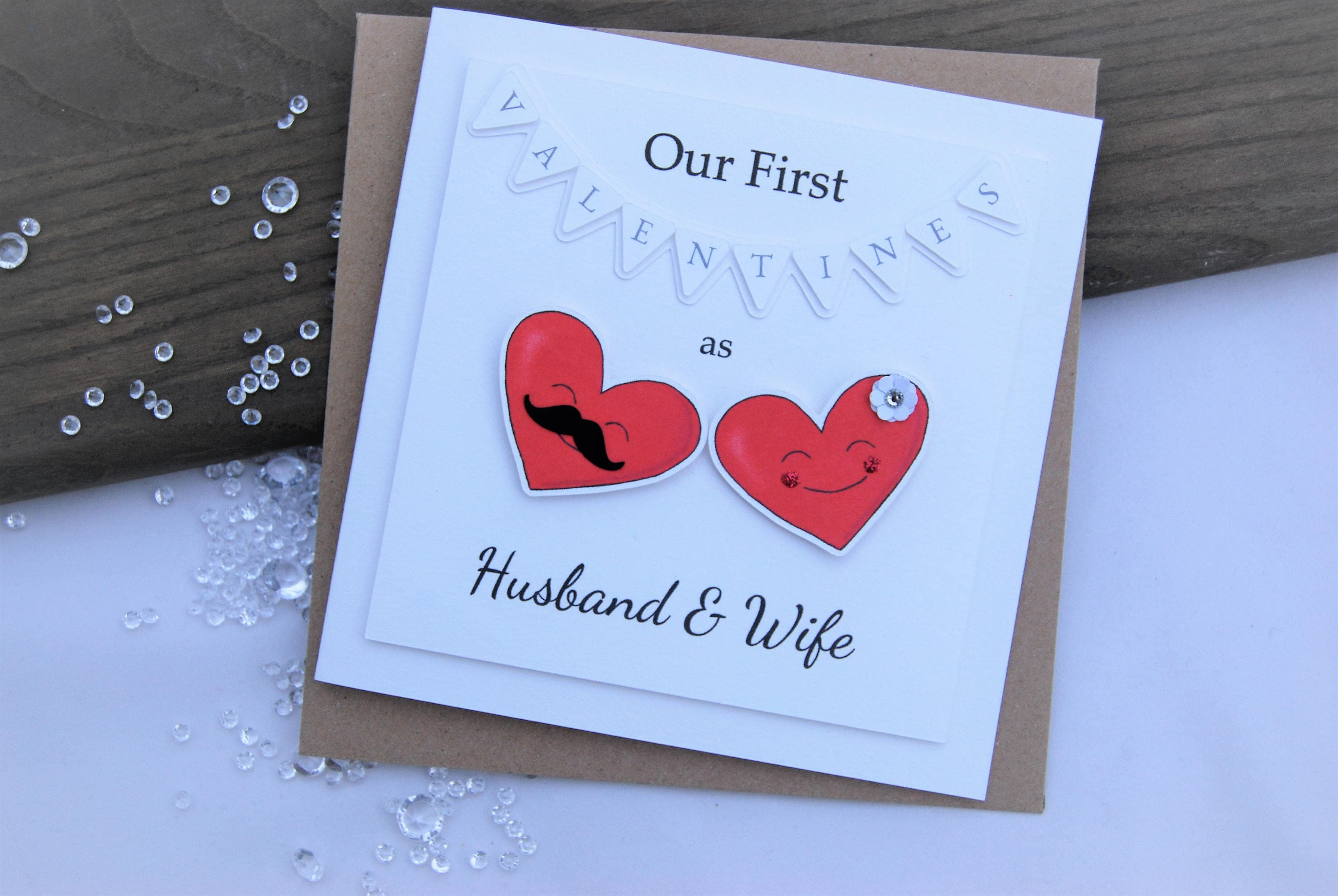 Our First Valentines As Husband And Wife Valentines Card Love Etsy