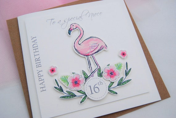 Grandaughter Pink Flamingo 23rd Birthday Card Friend Daughter Ladies