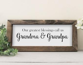 Nana Papa Pops FREE Design Proof Mimi Our Greatest Blessings call us GRANDMA /& GRANDPA Christmas Gift Photo Clip Frame 8x12   og01