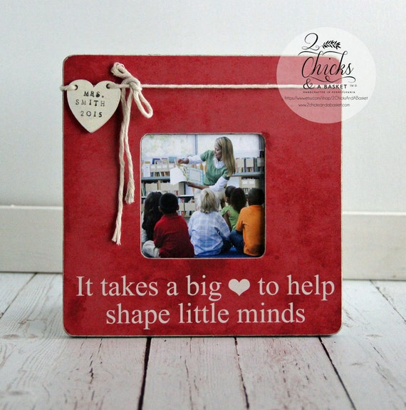 Personalized Teacher Picture Frame, Teacher Gift Idea, It Takes A ...