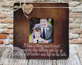 Step Dad Personalized Picture Frame, Father's Day Gift, Father's Day Picture Frame, Father's Day for Step Dad