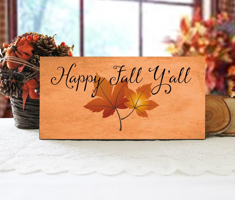 Happy Fall Yall Sign Autumn Wall Decor Fall Wall Sign | Etsy