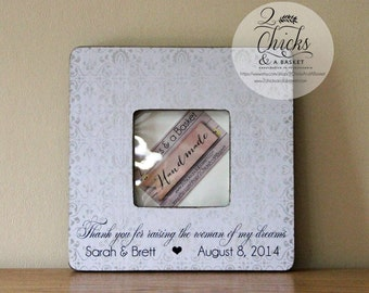 Mother Of The Bride Gift, Thank You  For Raising The Woman Of My Dreams, Personalized Mother In Law Frame, Mother In Law Gift Idea