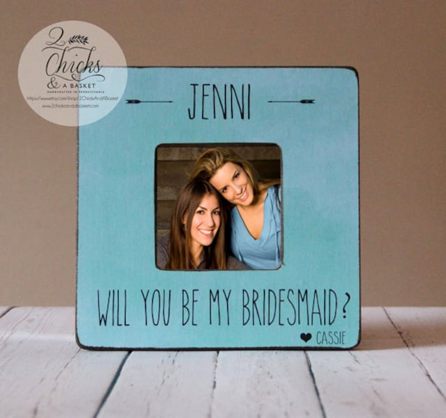 Will You Be My Bridesmaid Picture Frame Personalized Bridesmaid