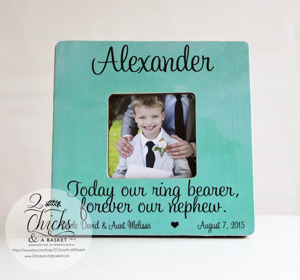 Today Our Ring Bearer Forever Our Nephew Picture Frame | Etsy