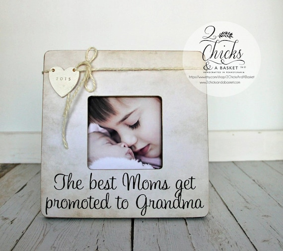 The Best Moms Get Promoted To Grandma Personalized Picture Etsy