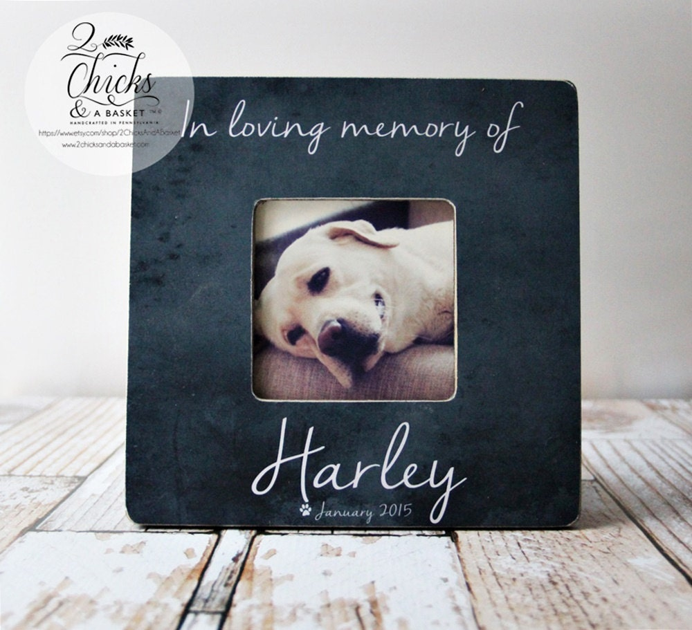 In Loving Memory Of Pet Picture Frame Personalized Pet | Etsy