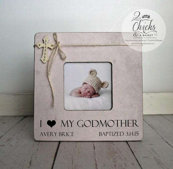 I Love My Godmother Frame Godmother Picture Frame Baptism Etsy