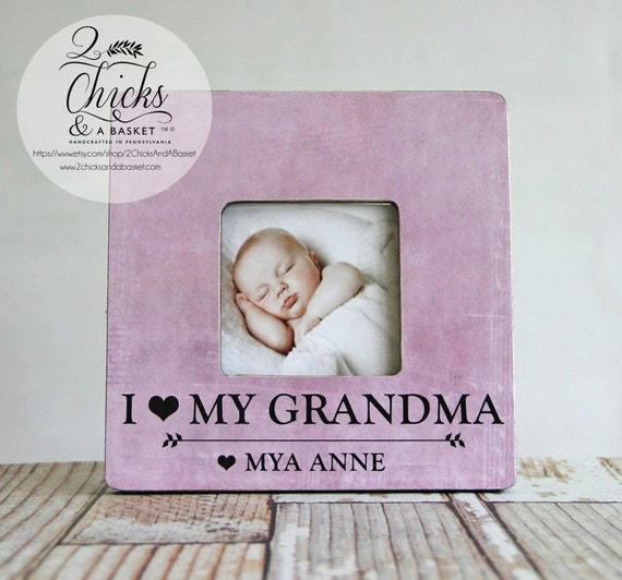 I Love My Grandma Picture Frame Grandma Picture Frame Etsy