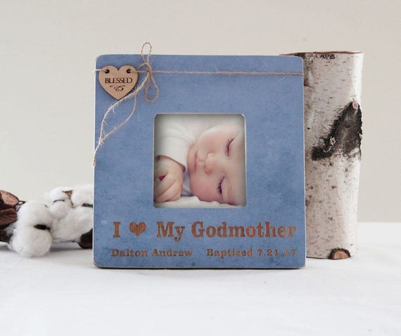 Godparents Picture Frame Baptism Picture Frame I Love My Etsy
