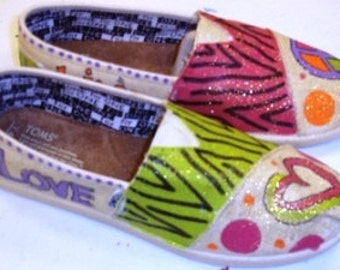 Whimsical Peace & Love TOMS