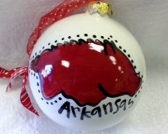 University of Arkansas Razorback Ornament