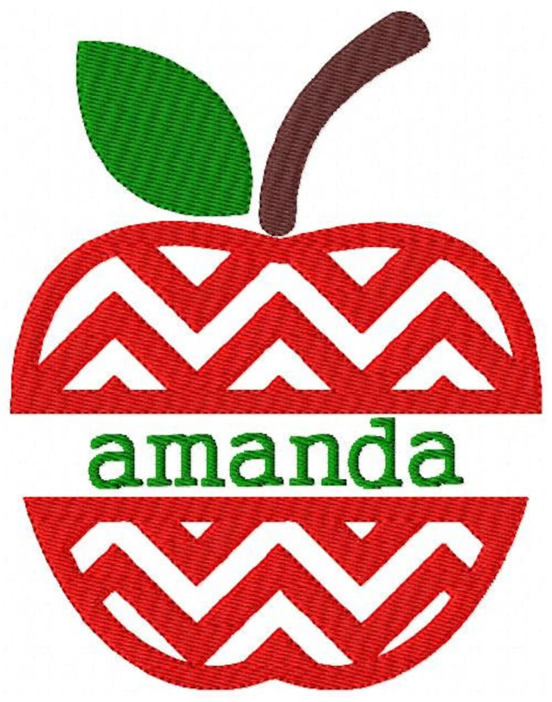 Embroidery Fonts, Apple, Teacher, Monogram Font, Embroidery Pattern,  Machine Embroidery, Embroidery Designs, Font, Embroidery