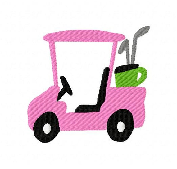 Embroidery Design Golf Cart Joyful Stitches Etsy