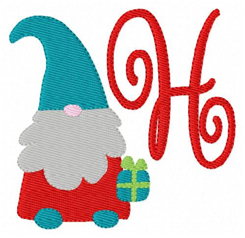 Christmas Gnome with Gift Machine Embroidery Monogram Designs, Gnome  Embroidery Design, Machine Embroidery Designs, Joyful Stitches
