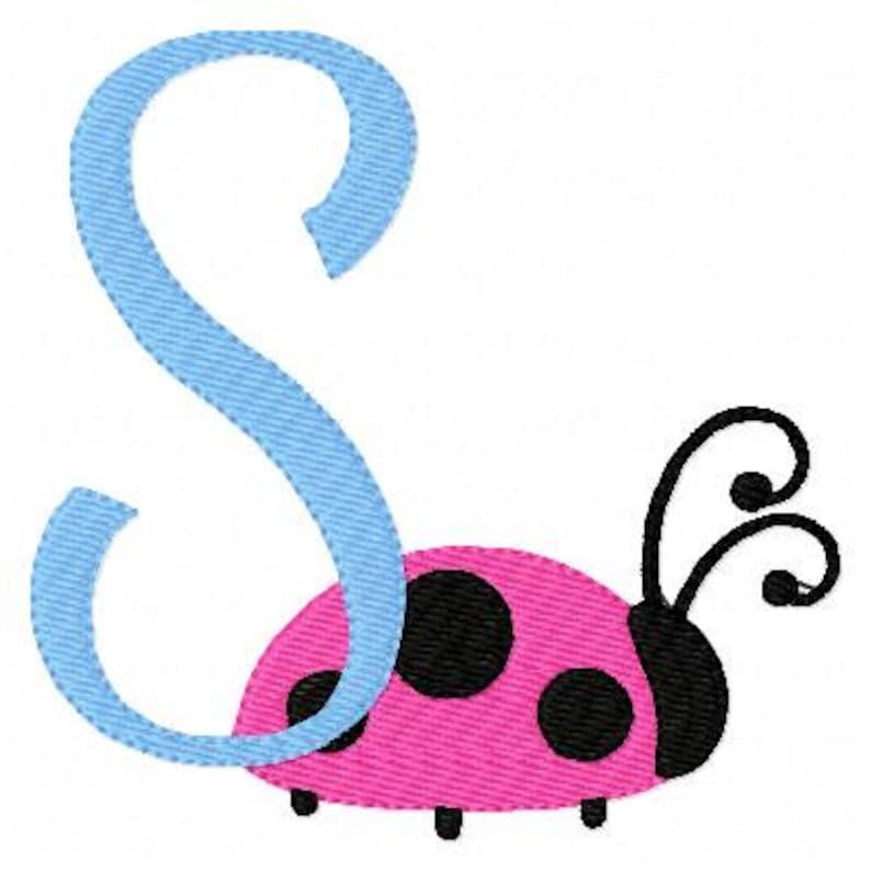 Ladybug Machine Embroidery Monogram Font Design Set, Machine Embroidery  Designs, Embroidery Font // Joyful Stitches