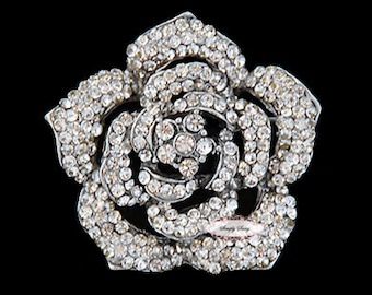 Rhinestone Brooch Pin - Flatback Embellishment - Rhinestone Crystal Brooch - Wedding Rhinestone Brooch Jewelry Supply RD207
