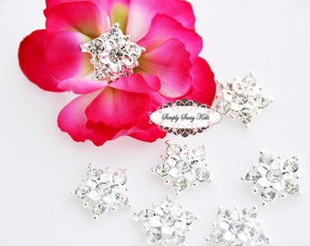20 pcs RD99 Clear 17mm Rhinestone Embellishment Flatback Button Lot  Add to flowers invitations frames accessories Wherever