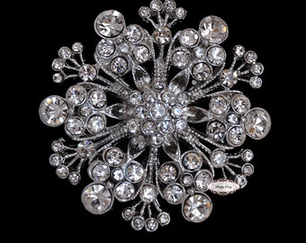 Rhinestone Brooch Embellishment - Flatback - Embellishment Buttons - Brooch Bouquets - Broach Bouquet Supplies - DIY Wedding - Jewelry RD190