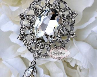 Rhinestone Brooch Embellishment Crystal Pearl Wedding Brooch Bouquet Cake Invitation Decoration Hair Comb Shoe Clip Flatback RD265