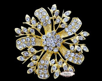Rhinestone Brooch Pin Crystal Metal Flatback Embellishment Button Brooches RD186 wedding bridal favor invitation crystal bouquet flower hair