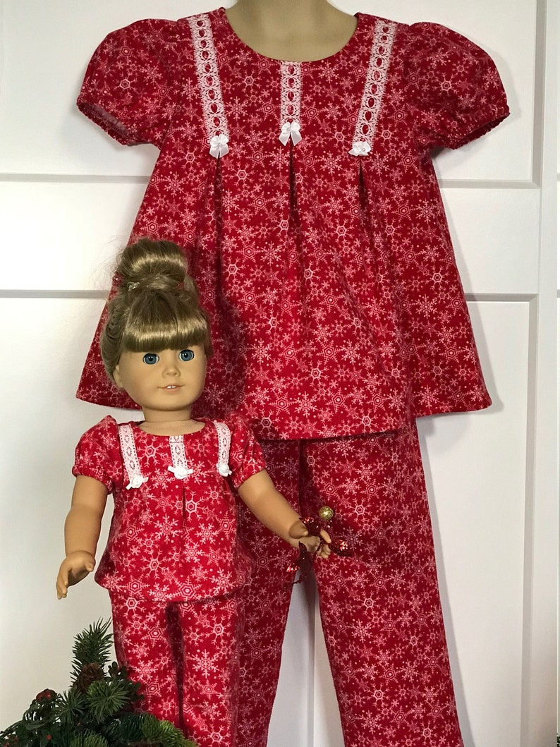 08c0c472e Christmas Winter Snowflake Pajama set for Child and American