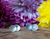 Simple Dimple Studs Post Earrings Sterling Silver Everyday Earrings Gift for Women  studs  small earrings  unique earrings