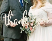 Boho Thank You Sign Wedding Photo Prop for DIY Thank you Cards Wedding Sign for Bride & Groom Wedding Photography Decor (Item - TYC200)