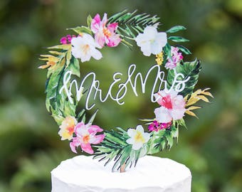 Tropical Cake Topper Etsy