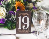 Wedding Table Numbers on Stands, Literary Book Standing Table Number Wedding Decor Centerpiece Fairytale Vintage Book Style (Item - BTN200)