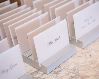 Place Card Holders for Wedding & Event Escort Card Display Cards Guests Seating Table Finder Cards, Custom Colors (Item - PCH200)