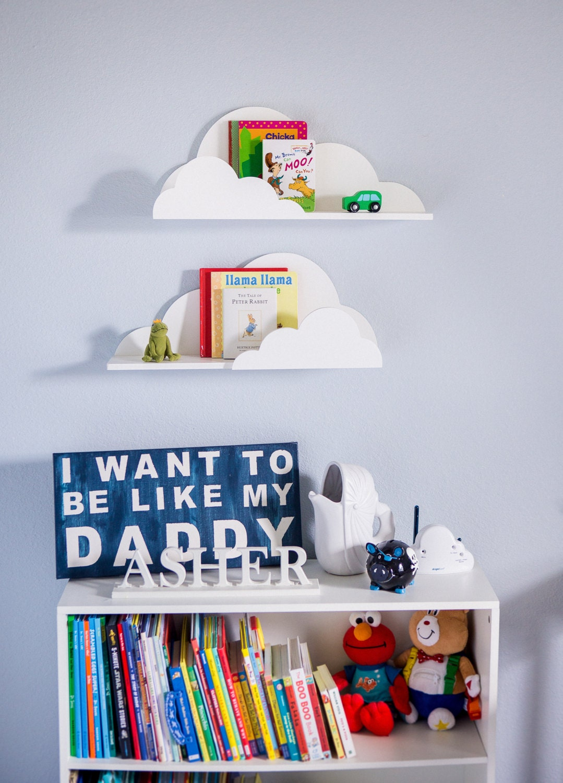 Cloud Shelf For Kids Room Baby Nursery Wall Decor Hanging