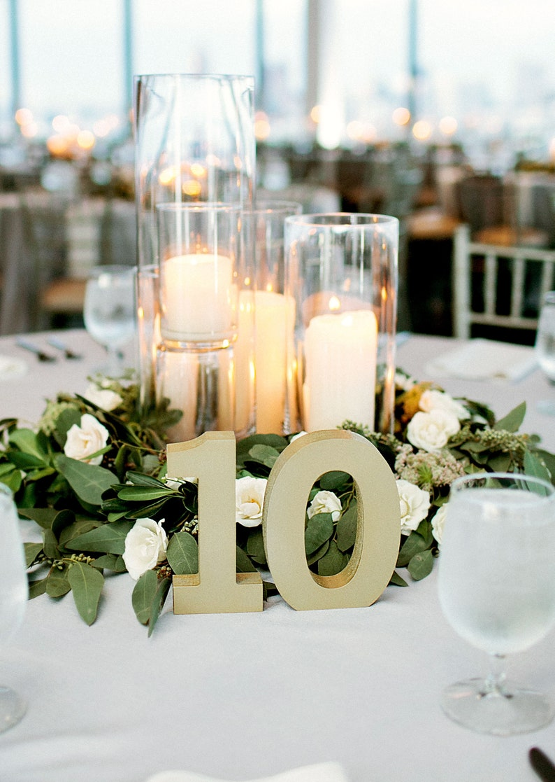 Wedding Table Numbers for Centerpieces Table Decorations image 0