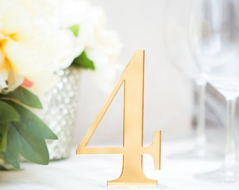 Table Numbers for Wedding, Table Number Signs, Wedding Decor Table Numbers for Tables Wedding Signs, Wedding Table Numbers (Item - ACR100)