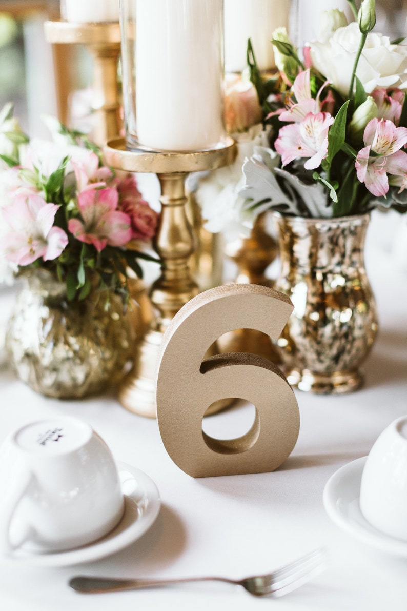 Wedding Table Numbers for Reception Table Decorations image 0