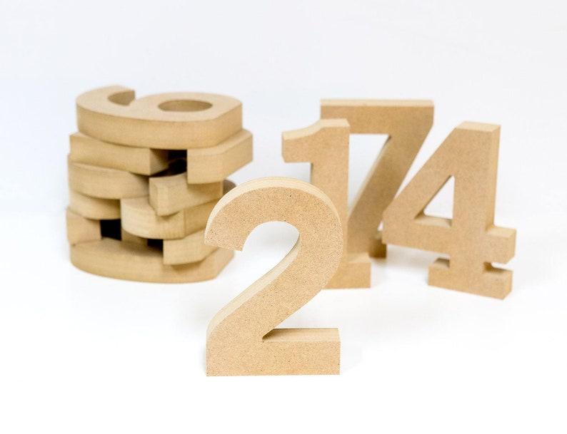 Wooden Numbers for Wedding Table Number Centerpieces image 0